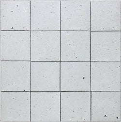 Square Chunky Tile Matt White Glaze 130x130