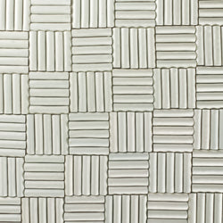 Rectangular Pipe Tile White Gloss