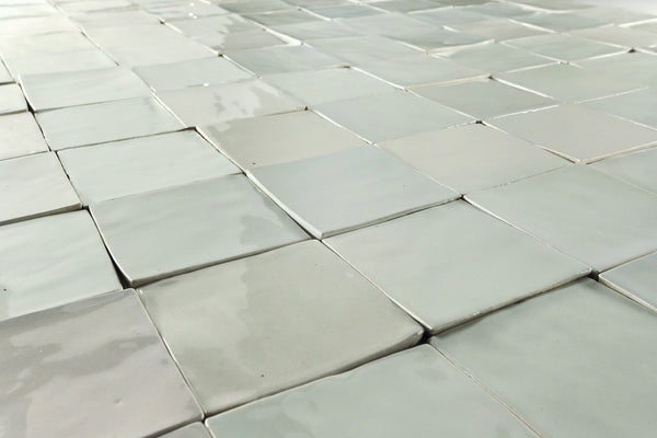 Square hand made tile whites