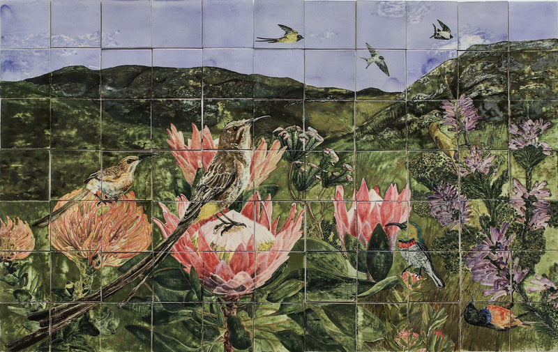 HAND PAINTED CAPE FYNBOS MURAL