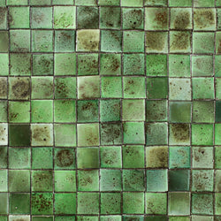 Chunky square tile glassy green
