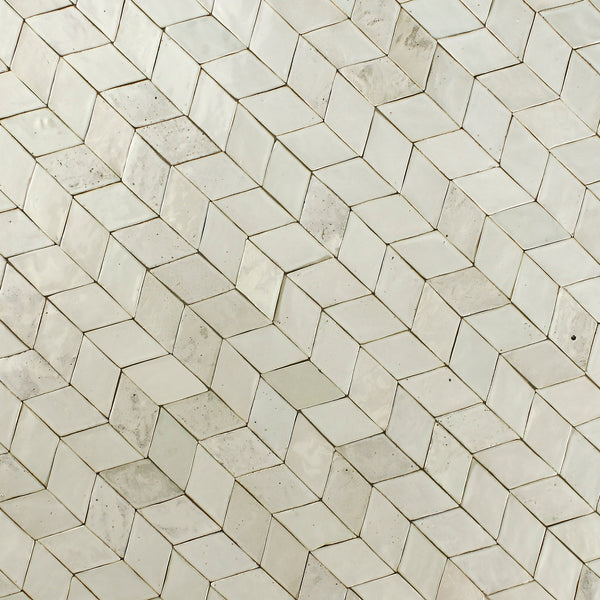 Marbled Diamond Tile Linen Whites