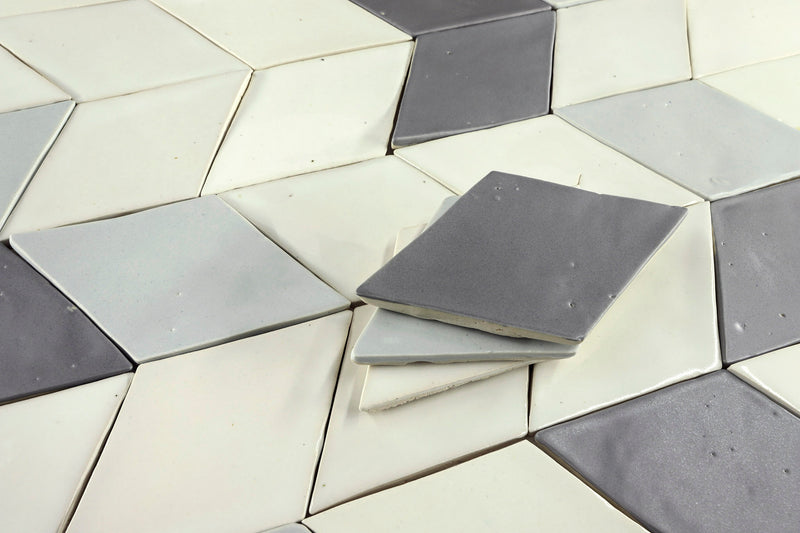 Diamond Tile White Grey Charcoal