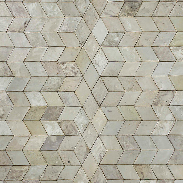 Marbled Diamond Tile Warm Grey Glaze