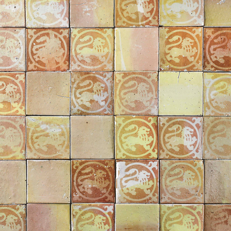 Chunky Square Tile Medieval pattern