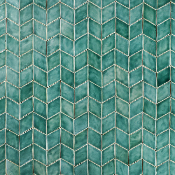Hand made Diamond Tile aqua green