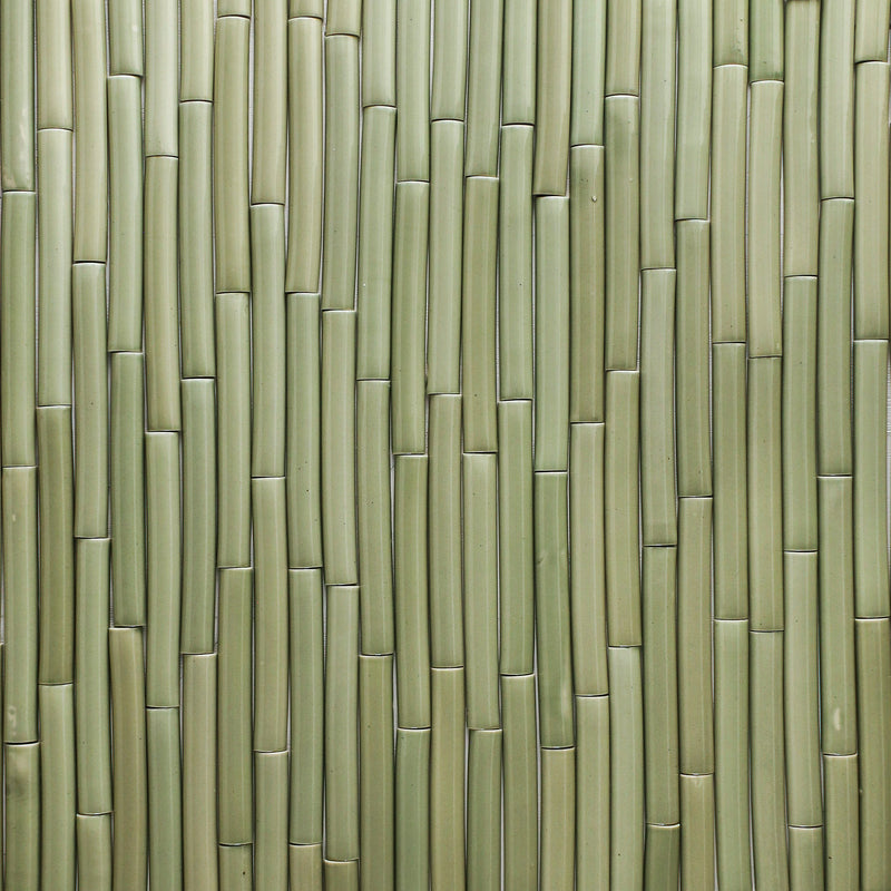 Gloss pale green Pipe tiles