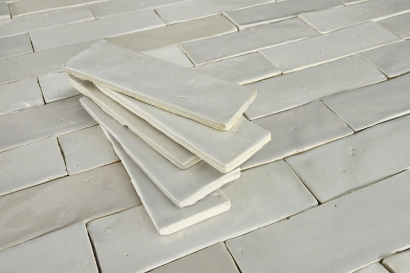 Linen Cream and Grey Glazed tiles