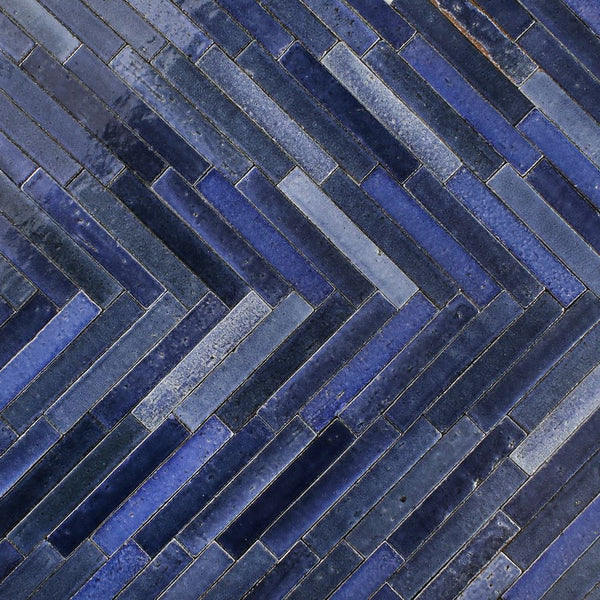 Glazed rectangle tile Blues