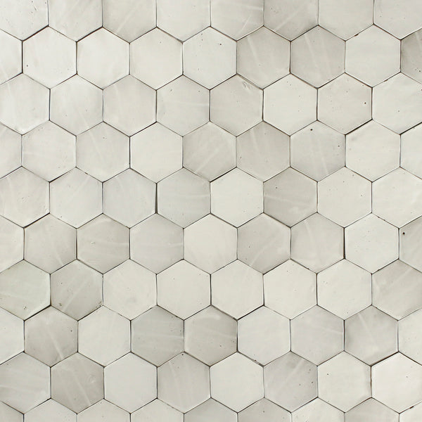 Hexagon Tile Matt White Glaze