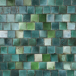 Square Chunky Tile Glassy green blend