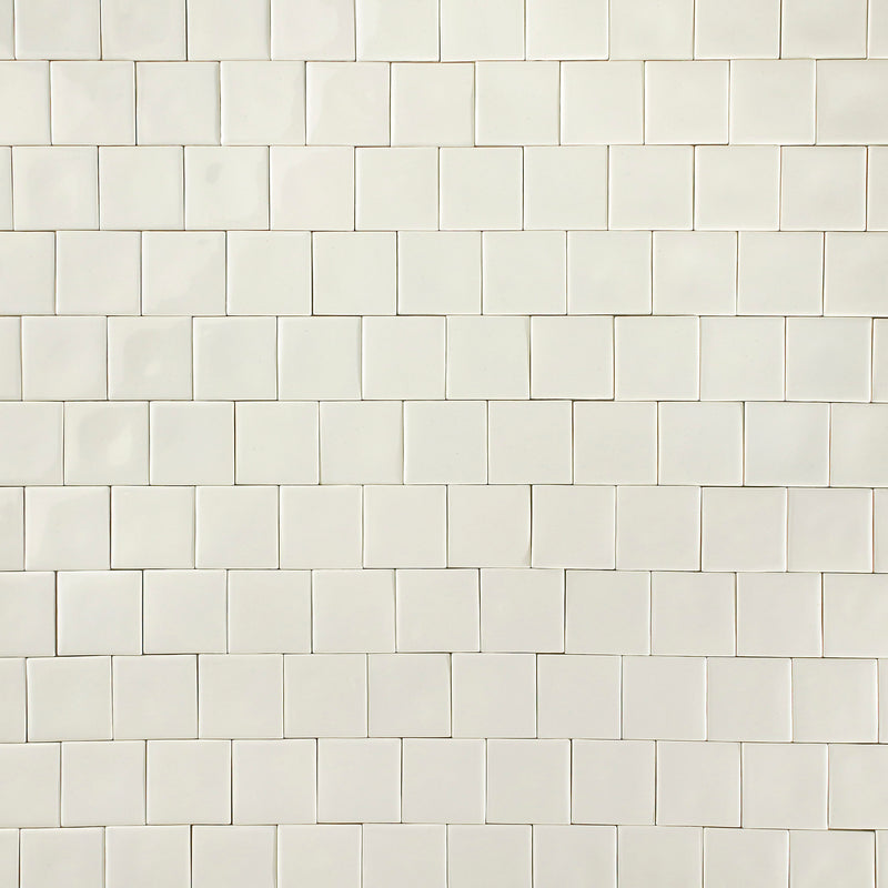 Square Tile Warm White Glazes