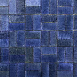 Blue glazed Rectangular Tile