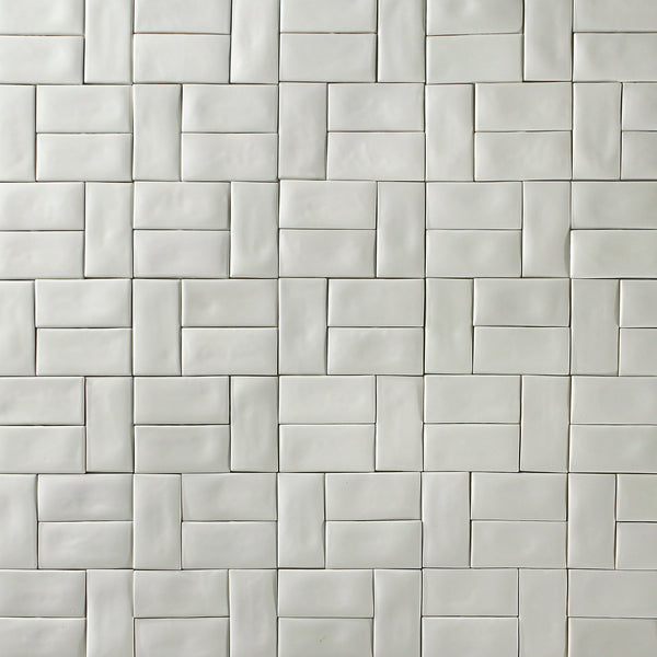 Rectangular Metro Tile Glazed White