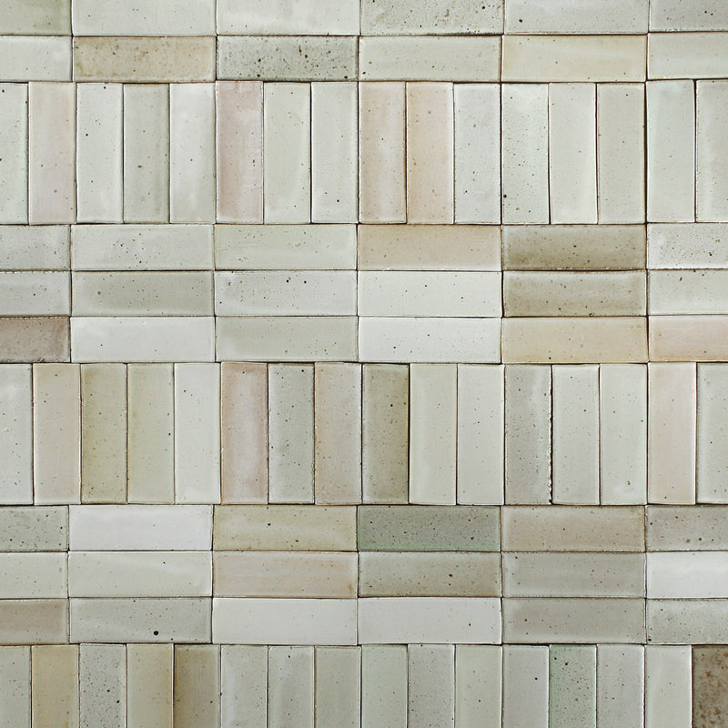 Pascalli Rectangular Tile Warm White Satin Glaze