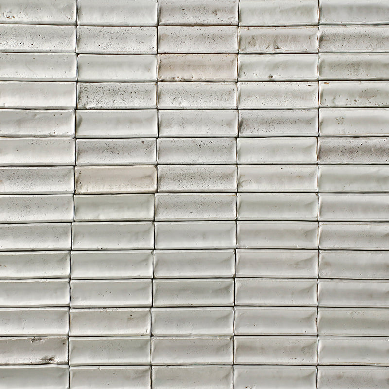 Rectangular Concave Tile Bone White