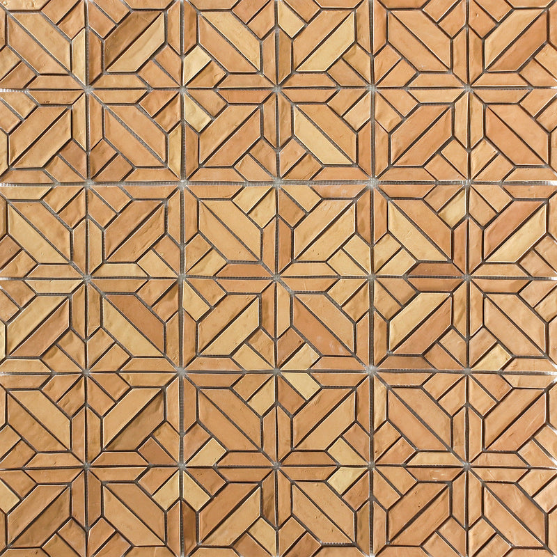 Vitrified Terracotta Tiles Mosaic Pattern