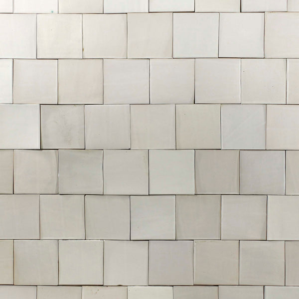 Satin White hand made tile