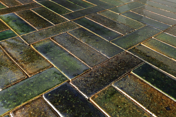 Pascalli Rectangular Tile Green Glaze