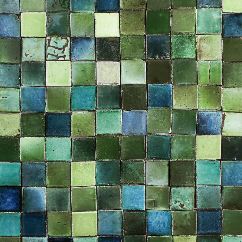 Chunky Tile glassy green blend