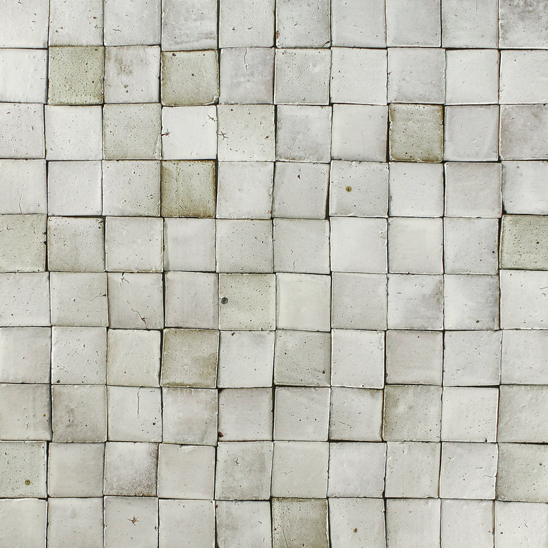 Square Chunky Tile Matt White