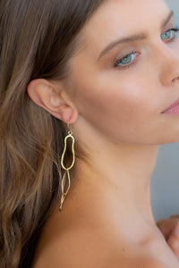 ALC09 Three oval Earring