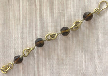Load image into Gallery viewer, ALC17 Amber glass chain Bracelet