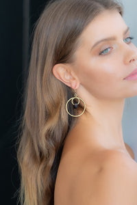 ALC01 Double ring earring