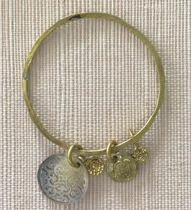 ALC12 bangle with shell & discs