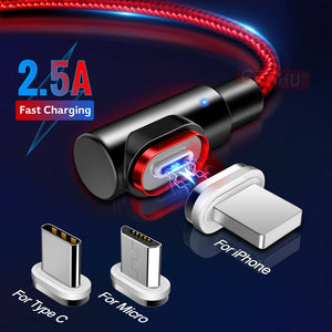 Magnetic USB Cable with 90-degree Connector (Fast-Charging enabled!)