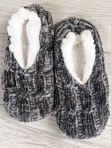 Grey Cozy Slippers
