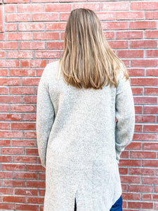 Oatmeal Sweater Coat Back