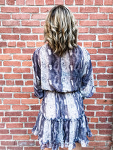 Load image into Gallery viewer, Lovestitch Black Border Print Long Sleeve Dress Back