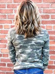 Camo Thermal Long Sleeve Top Back