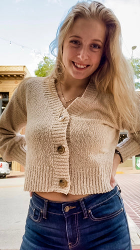 Oatmeal Button Up Sweater