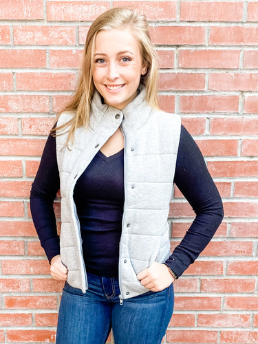 Heather Gray Vest with Pockets