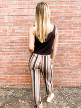 Load image into Gallery viewer, Taupe Patchwork Trouser Back