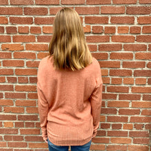 Load image into Gallery viewer, Coral Rib Knit Long Sleeve Top