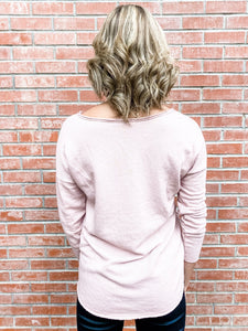 Dusty Rose Raw Edge Star Top Back