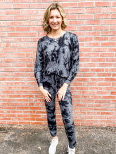 Load image into Gallery viewer, Charcoal Tie Dye Loungewear Set Front