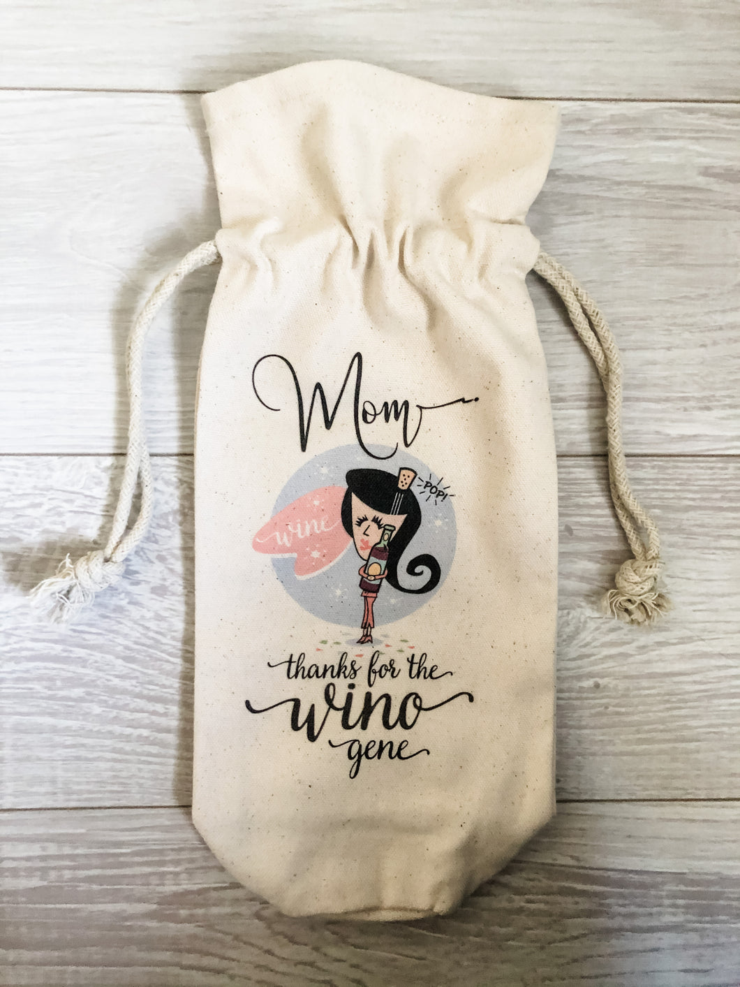 Thanks For The Wino Gene Canvas Wine Bag