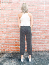 Load image into Gallery viewer, Black/Ivory Dot Print Balloon Pant Back