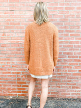 Load image into Gallery viewer, Burnt Orange Knit Cardigan Back