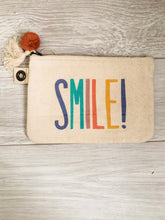 Load image into Gallery viewer, Smile! Canvas Pouch