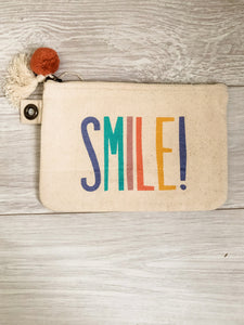 Smile! Canvas Pouch