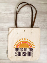Load image into Gallery viewer, Bring on the Sunshine Canvas Tote