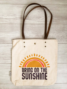 Bring on the Sunshine Canvas Tote
