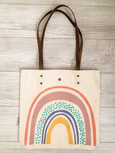 Load image into Gallery viewer, Rainbow Canvas Tote