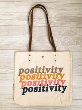 Load image into Gallery viewer, Positivity Canvas Tote