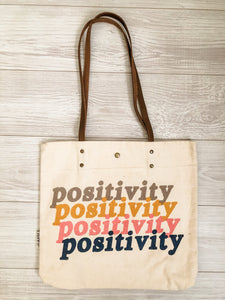 Positivity Canvas Tote